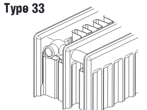 Calorifer otel panel 33x600x1200 Copa