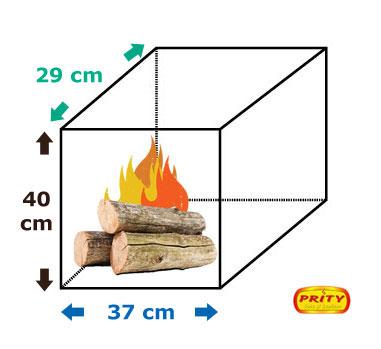 Dimensiuni Soba incalzit Prity K1 9 kW