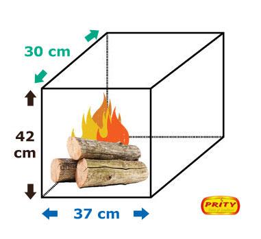 Dimensiuni Soba incalzit Prity K1 K 9 kW