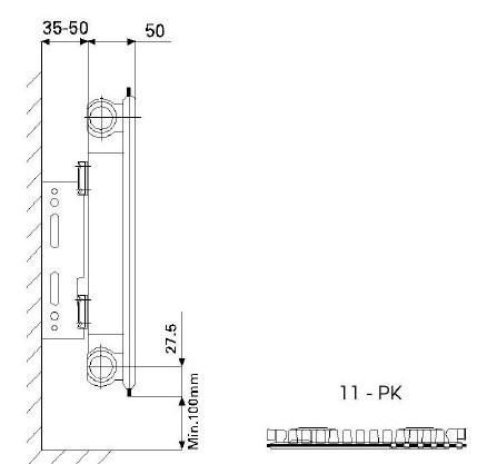 Dimensiuni Calorifer otel panel 600x400x11