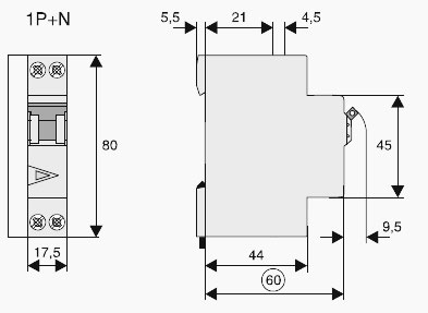 Dimensiuni sigurante Moeller PLN4