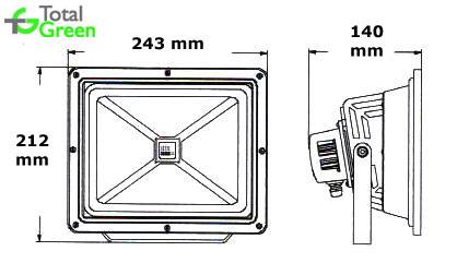 Dimensiuni Proiector cu LED 30W
